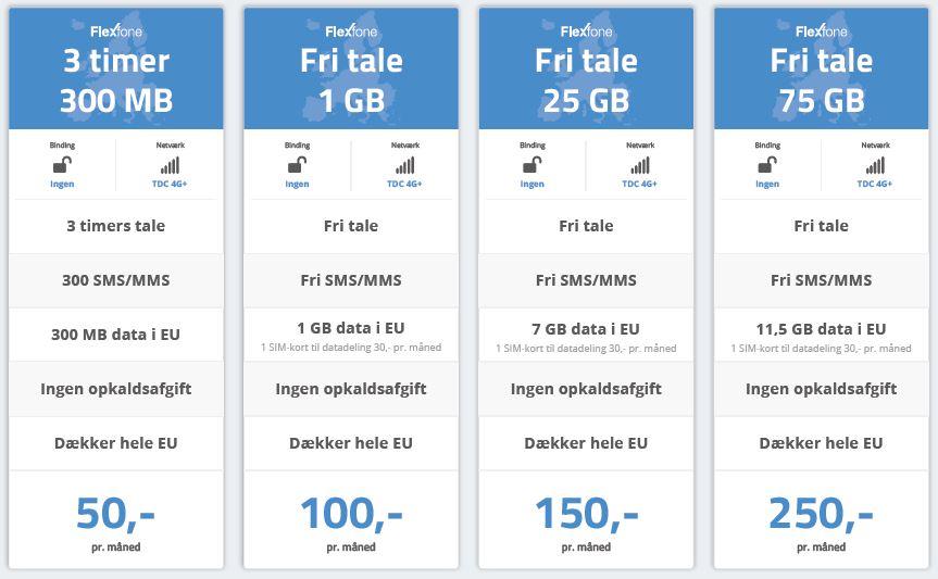 Flexfone_priser_talepakker